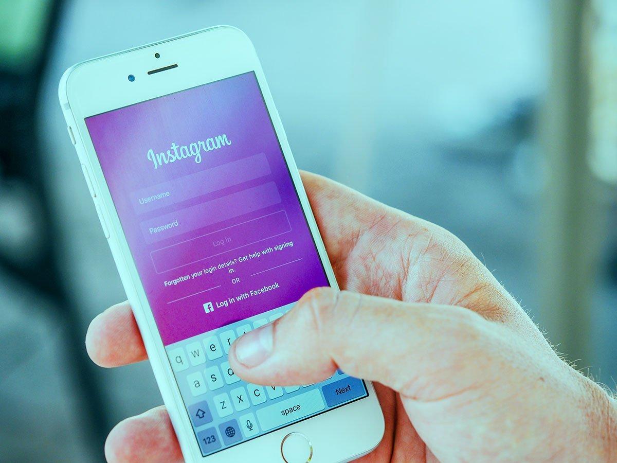 instagram da smartphone