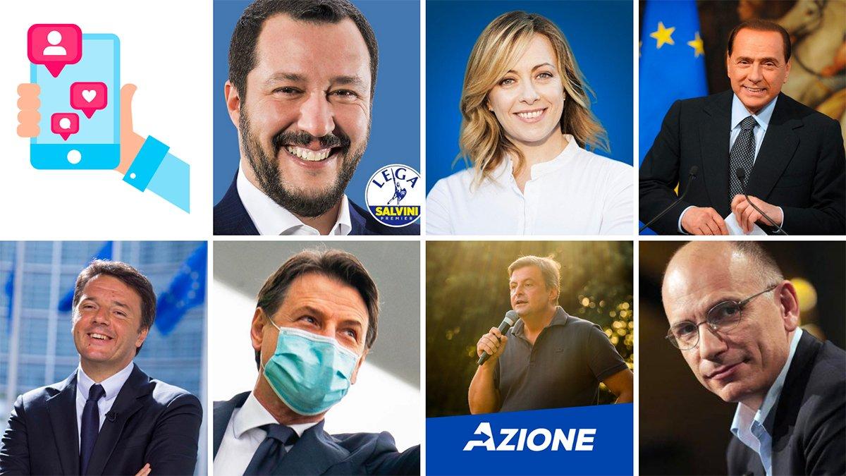 politiici italiani più seguiti sui social network
